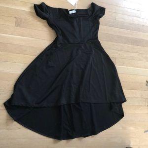 Dresses & Skirts - Black high / low a line dress
